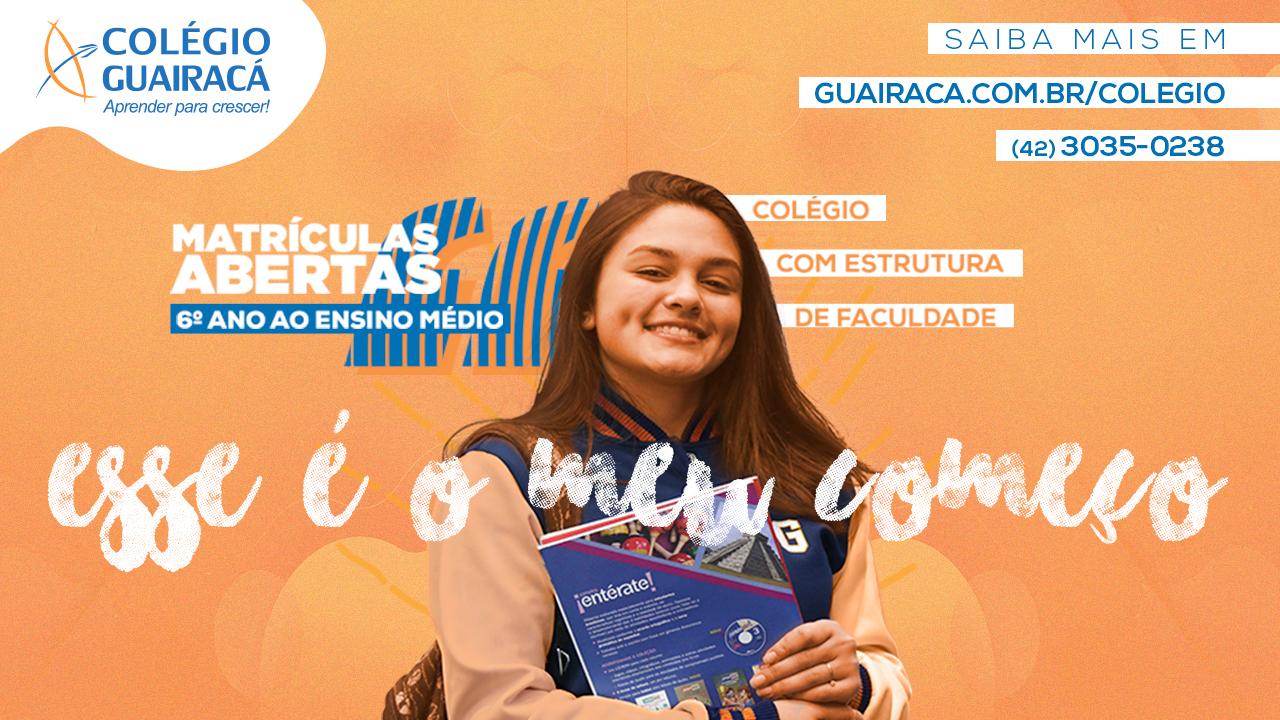 Aprender para crescer: Colégio Guairacá está com matrículas abertas para 2019