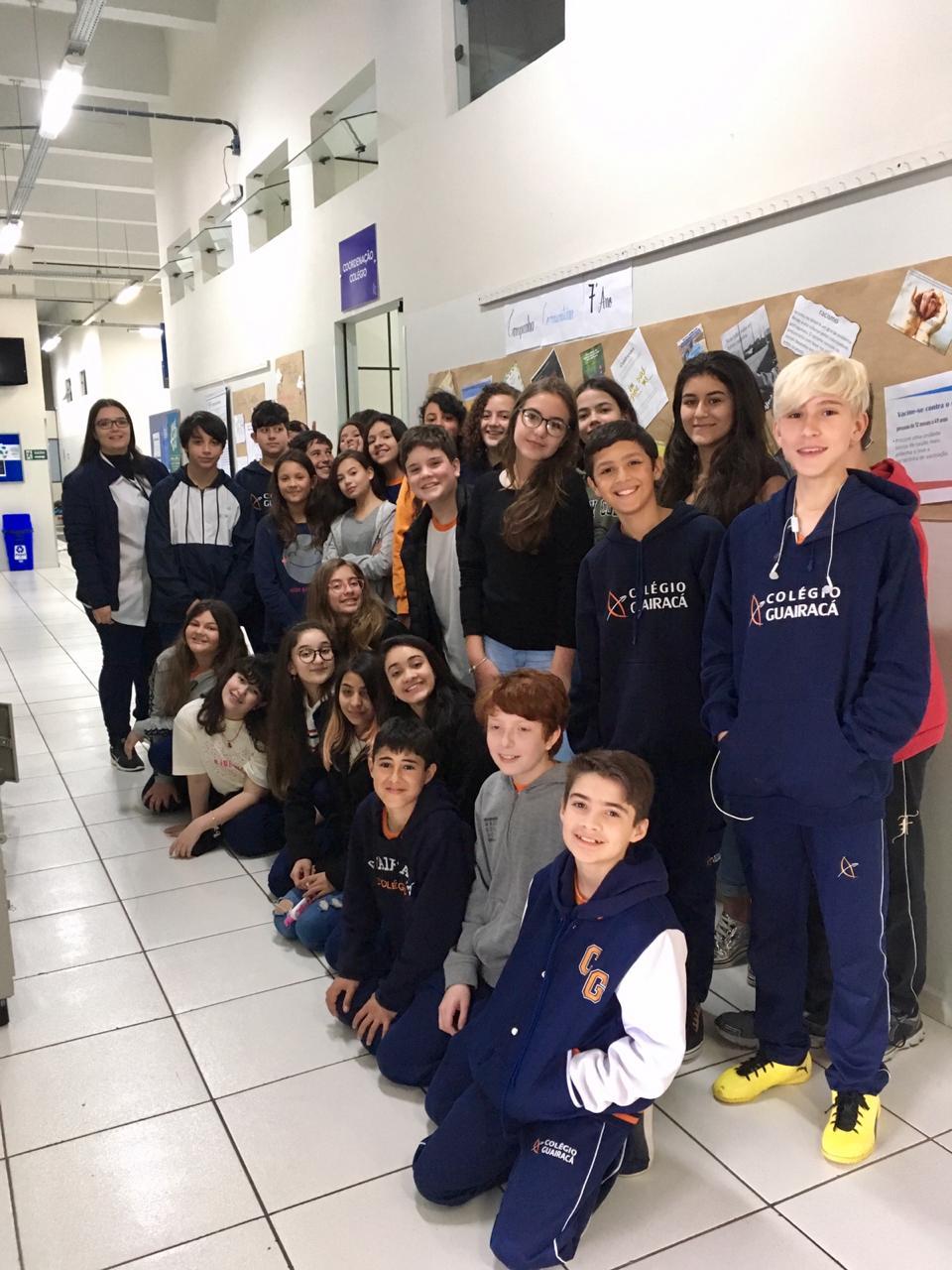 Campanhas comunitárias do Colégio Guairacá conscientizam sobre temas atuais