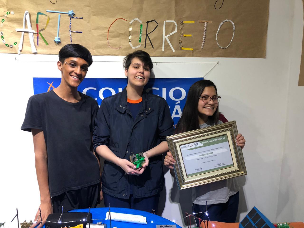 Colégio Guairacá participa da I Mostra do Projeto Planeta Reciclável