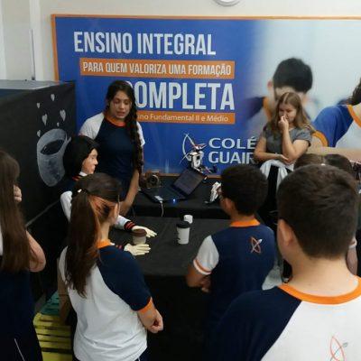 Exposição no Colégio Guairacá mostra projetos desenvolvidos na Oficina de Robótica
