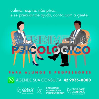 Guairacá oferta atendimento psicológico online para alunos e professores durante a pandemia