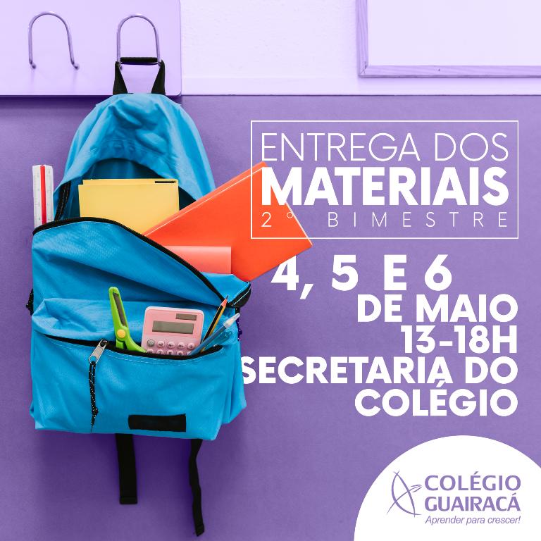 Colégio Guairacá realiza entrega de materiais escolares do 2º bimestre