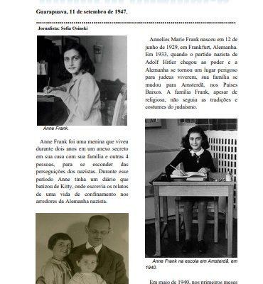 Turma do 9º ano elabora jornal de notícias sobre a Segunda Guerra Mundial