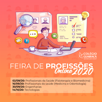 Colégio Guairacá realiza Feira de Profissões Online
