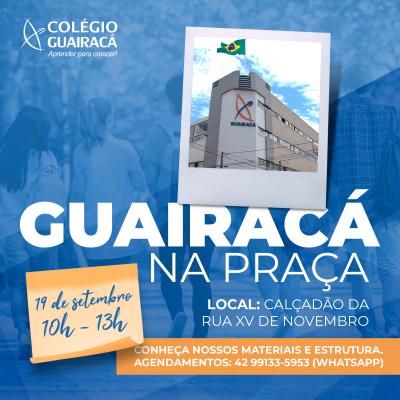 Guairacá na Praça: evento na Praça 9 de Dezembro promove interação entre comunidade e escola