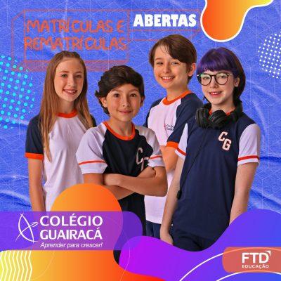 Colégio Guairacá abre matrículas para 2021