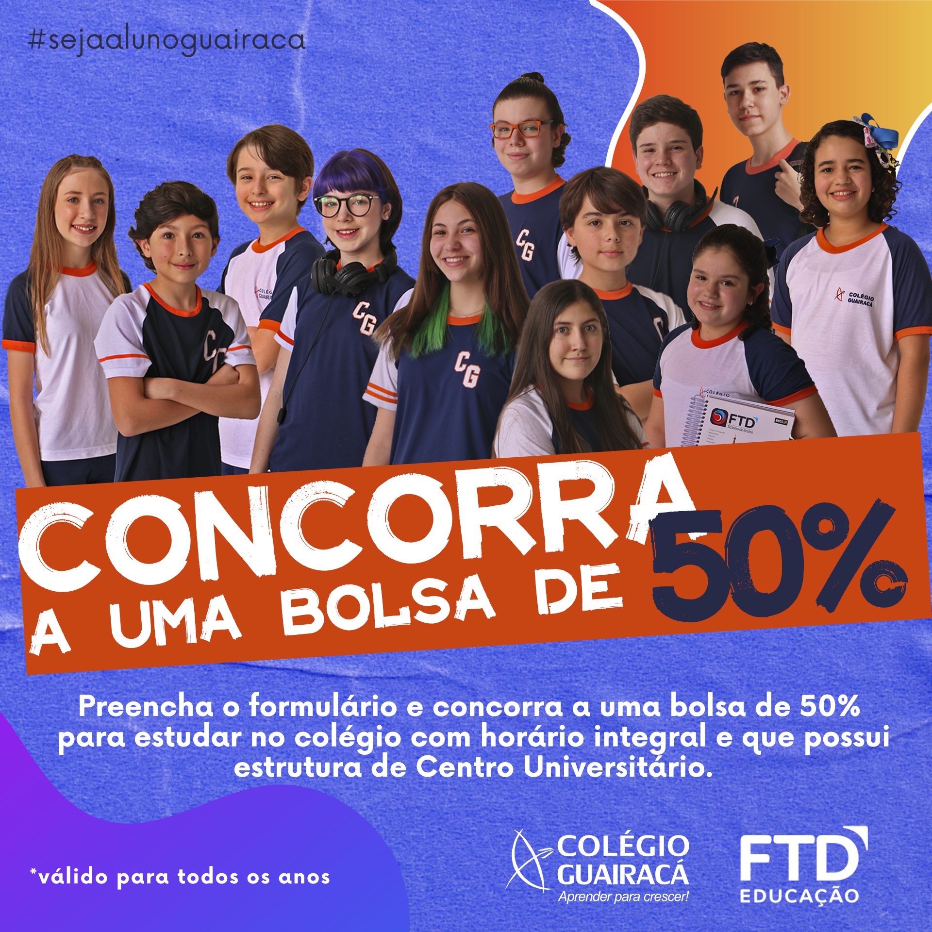 Amigo indica amigo: Colégio Guairacá realiza sorteio de bolsa de estudo para 2021