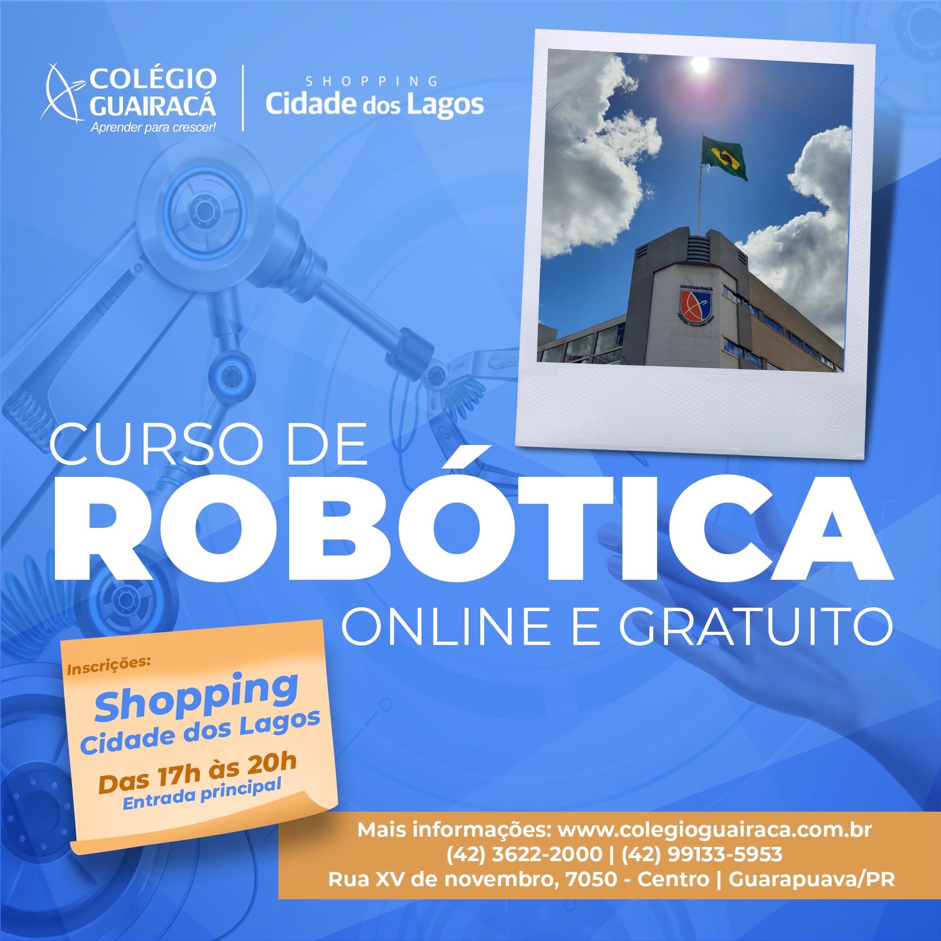 Colégio Guairacá oferta curso gratuito de robótica para a população