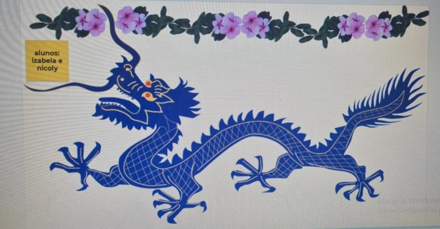 Alunos do 1º ano se inspiram na cultura chinesa para produções artísticas
