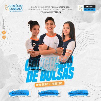 Colégio Guairacá divulga concurso de bolsas de estudo
